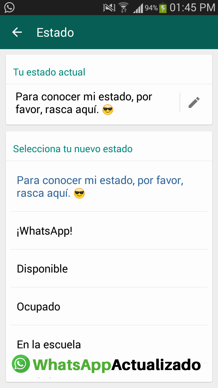 Regresan las frases a los estados de Whatsapp - Segundo a
