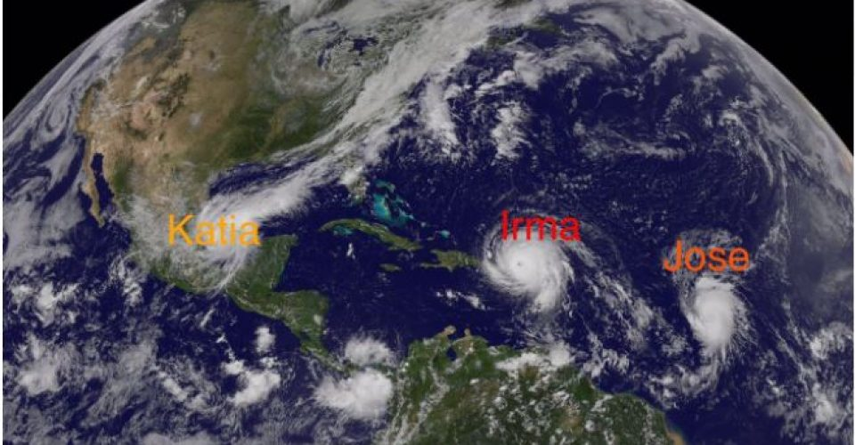 Prevén lluvias en Sinaloa por 'Katia'