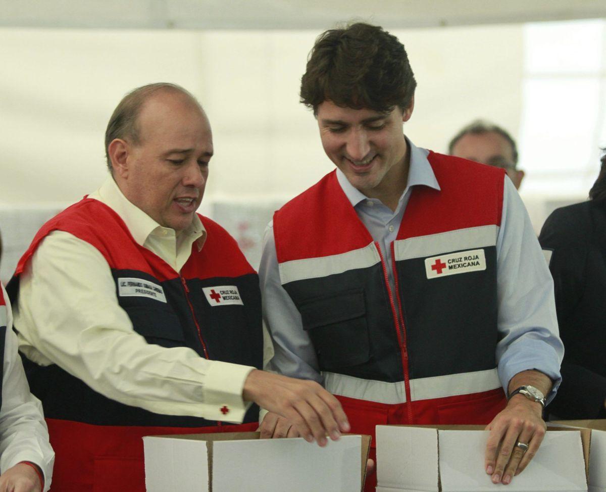 Trudeau arma despensas para damnificados por sismo