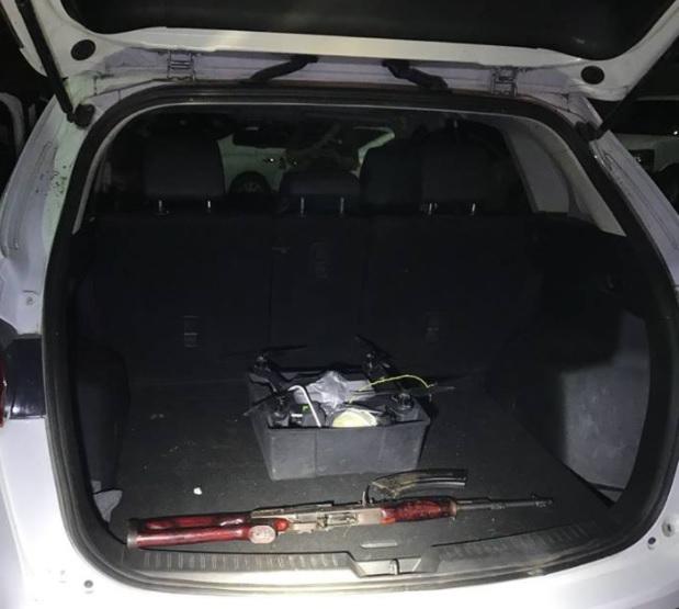 Cuatro personas detenidas por tener un dron cargado de explosivos