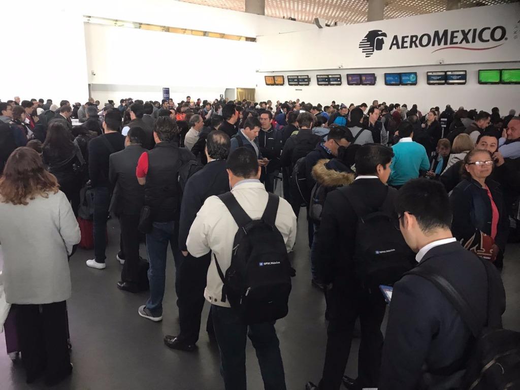 Aeromexico cancela 14 vuelos en AICM por huelga de pilotos